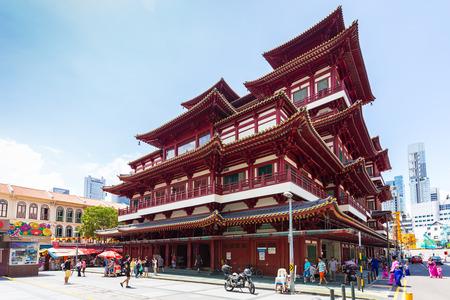 bouddha: Ville de Singapour, Singapour - le 17 Juillet, 2015: Le Bouddha Dent Temple � Singapour.