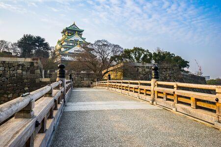unification: Osaka, Japan- January 5, 2016: Osaka Castle is a Japanese castle in Chuo-ku, Osaka, Japan. The castle is one of Japans most famous landmarks and it played a major role in the unification of Japan.