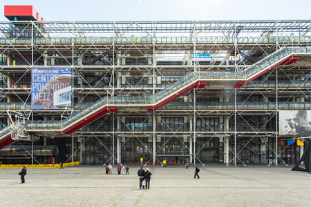 Paris, France - May 14, 2014: facade of the Centre Georges Pompidou in Paris.