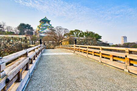 unification: Osaka, Japan- January 5, 2016: Osaka Castle is a Japanese castle in Chuo-ku Osaka Japan. The castle is one of Japans most famous landmarks and it played a major role in the unification of Japan.