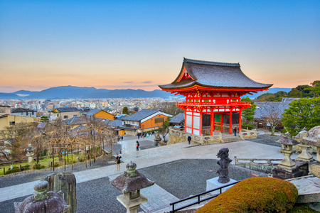 dera: Kyoto, Japan- December 31, 2015: Kiyomizu-dera is an independent Buddhist temple in eastern Kyoto. The temple is part of the Historic Monuments of Ancient Kyoto.