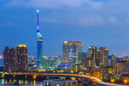 View of Hakata skyline in Fukuoka, Japan.