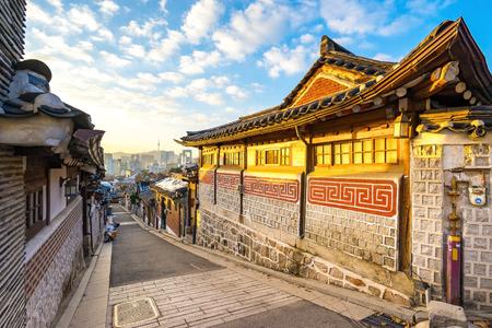 Bukchon the ancient village in Seoul, South Korea.