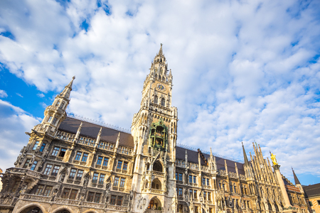 The new Town Hall in Munich, Germany.