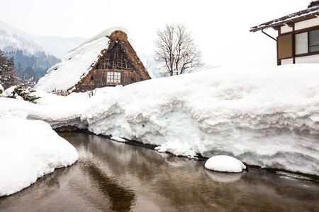 Winter at Shirakawa-go in Japan.