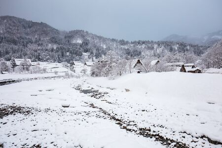 shirakawago: Winter at Shirakawa-go in Japan.
