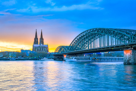cologne: The Cologne Cathedral in Cologne, Germany. Editorial