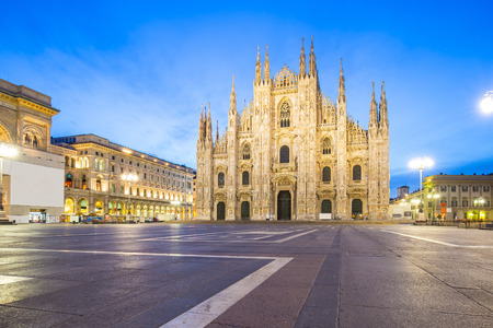 milano: The Duomo of Milan Cathedral in Milano, Italy.