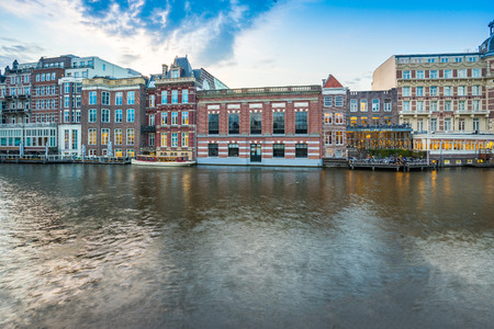 canal house: View of Canal House in Amsterdam, Netherlands.