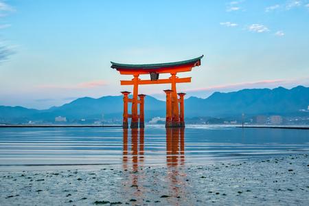 The Floating Torii gate in Miyajima, Japan.