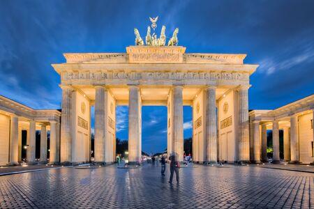 brandenburg gate: Berlin night, the Brandenburg Gate in Berlin, Germany.