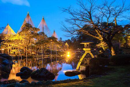 lightup: Light-up of Kenrokuen Garden and Kanazawa Castle Park in Kanazawa, Japan.