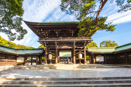 Tokyo, Japan - February 16, 2015: Meiji Jingu Shrine in Shibuya, Tokyo- Japan.