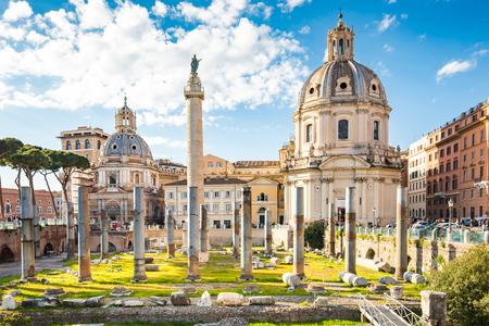 Forum de Trajan à Rome, Italie. Banque d'images - 70539735