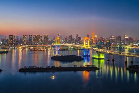 View of Tokyo city skyline in Odaiba-Tokyo, Japan.