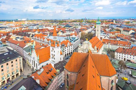 Munich skyline in Munich, Germany.