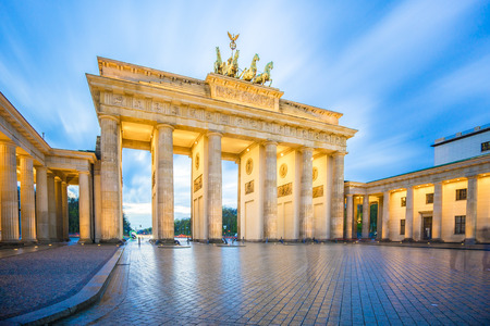 Brandenburg Gate in Berlin city, Germany. Stock Photo