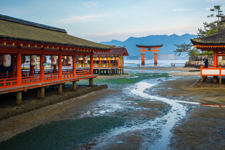 Miyajima island in Japan with The Floating Torii gate.