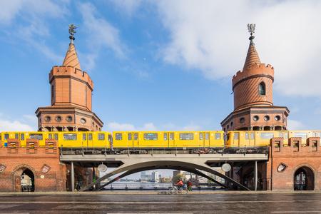 The Oberbaum Bridge landmark of Berlin city in Germany.