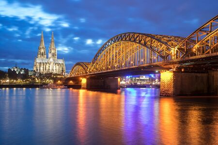 View of Cologne Cathedral in Cologne, Germany.