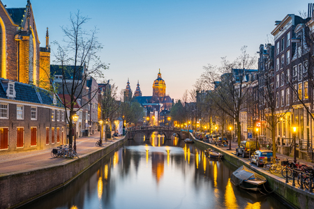 Church of Saint Nicholas in Amsterdam city, Netherlands Banque d'images