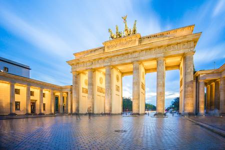 The long exposure image of Brandenburg Gate in Berlin city, Germany.