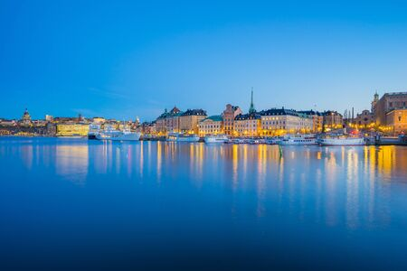 The Gamla Stan at night in Stockholm city, Sweden.
