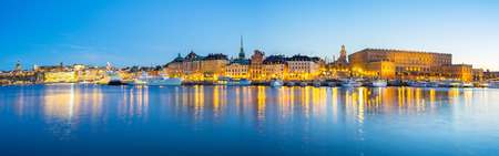Panorama view of Gamla Stan skyline in Stockholm city, Sweden. Banque d'images