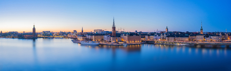 Panorama view of Stockholm skyline in Stockholm city, Sweden. Stock Photo