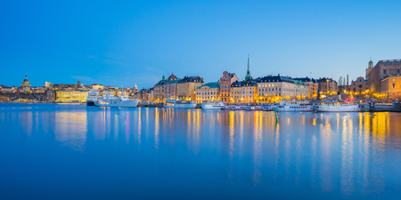 Panorama view of Stockholm skyline in Stockholm city, Sweden. Éditoriale