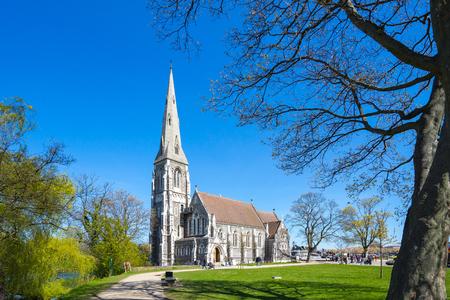 St Alban's Church dans la ville de Copenhague, Danemark.