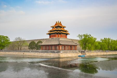 The Forbidden city in Beijing city, China. Banque d'images