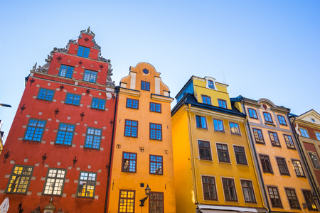 Stockholm, Sweden - May 4, 2017: Gamla Stan, the Old Town, is one of the largest and best preserved medieval city centers in Europe, and one of the foremost attractions in Stockholm. Editorial