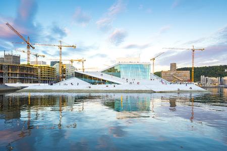 Oslo, Norway - May 6, 2017: The Oslo Opera House in Oslo city landmark in Oslo, Norway.