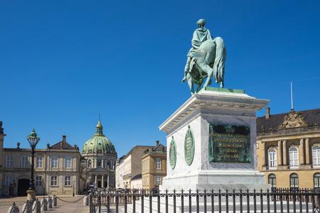 Copenhagen, The Amalienborg in Copenhagen city, Denmark. Banque d'images