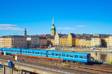 View of Stockholm cityscape in Sweden.