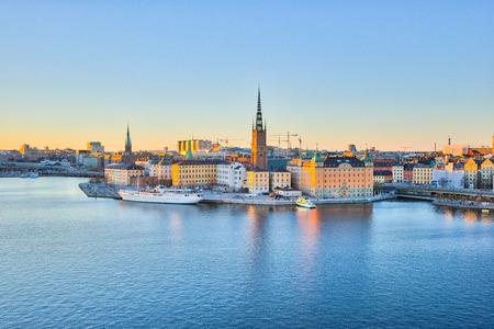 Stockholm Skyline, The Gamla Stan in Stockholm city, Sweden.