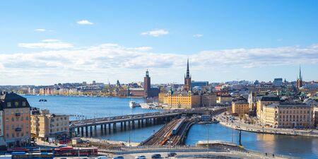 View of Stockholm city in Sweden. Banque d'images
