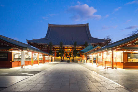 Tokyo, Japan - December 31, 2016: Sensoji is a Buddhist temple located in Asakusa. It is one of Tokyos most colorful and popular temples.