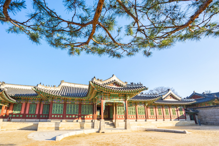 Changdeokgung Palace in Seoul, South Korea. Banque d'images