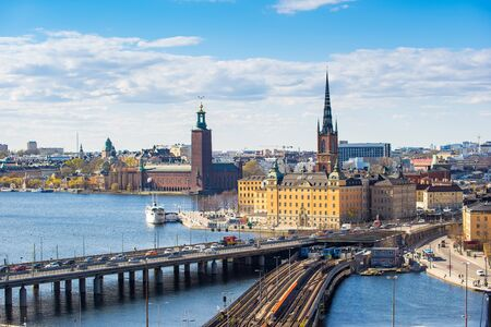 Cityscape of Stockholm old town in Sweden. Banque d'images