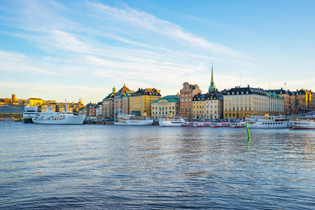 The Gamla Stan old town in Stockholm, Sweden. Banque d'images