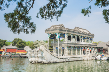 The Marble Boat in Summer Palace Beijing, China.