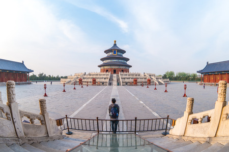 Temple of Heaven in Beijing capital city in China. Banque d'images