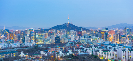 Seoul city skyline in South Korea.