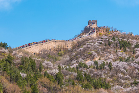 Badaling Great Wall of Beijing in China. Banque d'images