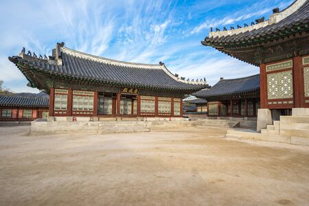 Gyeongbokgung in Seoul, South Korea. Banque d'images