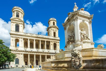 Saint Sulpice church in Paris, France.