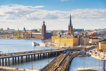 Stockholm city skyline in Sweden.