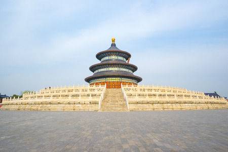 Hall of Prayer for Good Harvests in Temple of Heaven in Beijing city, China.